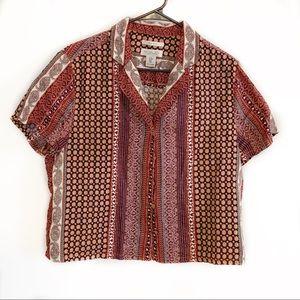 Rachel Zoe 100% Linen Tribal Shirt